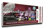 2012 BCS National Championship Game Canvas Mega Ticket - Alabama Crimson Tide