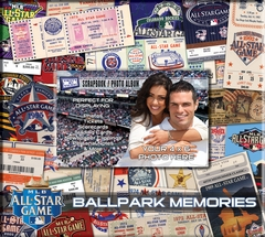 2012 MLB All-Star Game 8 x 8 Ticket & Photo Album Scrapbook - Royals