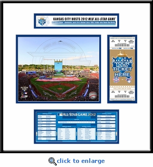 2012 MLB All-Star Game Ticket Frame Jr - Kansas City Royals