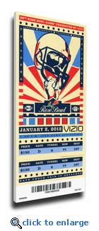 2012 Rose Bowl Canvas Mega Ticket - Oregon Ducks
