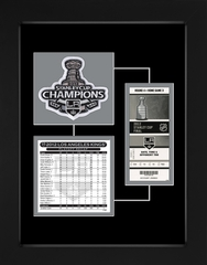 2012 Stanley Cup Final Patch, Roster & Replica Ticket Frame - Los Angeles Kings