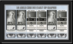 2012 Stanley Cup Final Tickets to History Framed Print - Los Angeles Kings Champions