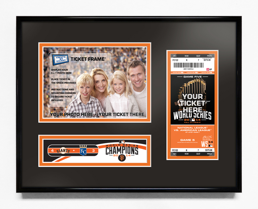 mlb world series ticket frames