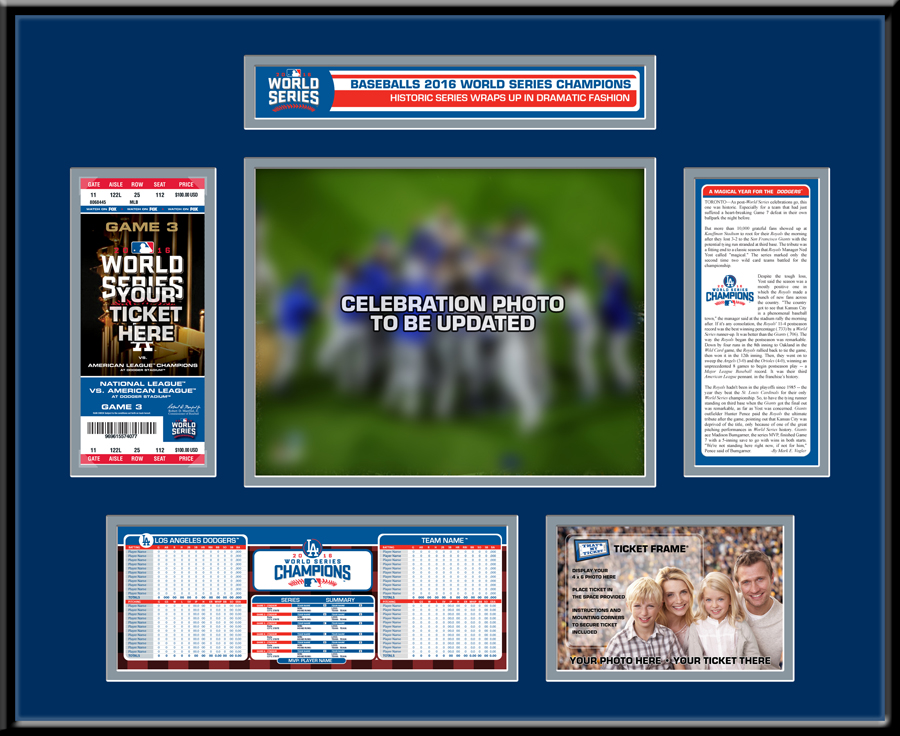 2016 World Series Ticket Frame - Los Angeles Dodgers