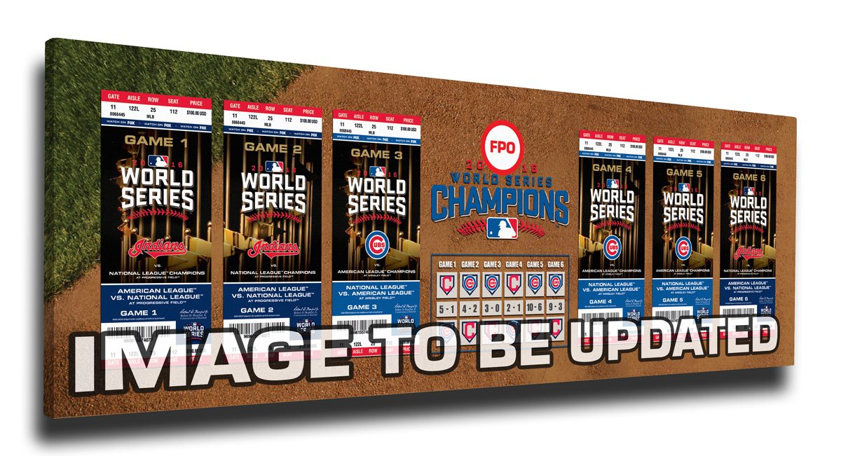2016 World Series Tickets to History Canvas Print - Cleveland Indians