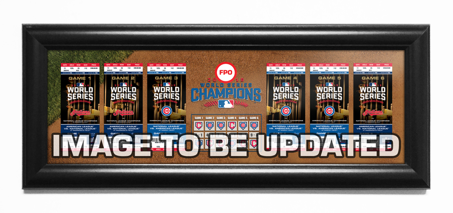 2016 World Series Tickets to History Framed Print - Chicago Cubs