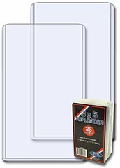3 x 5 Vertical Ticket Topload Holder - 25 Pack
