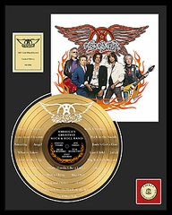 Aerosmith - America's Greatest Etched Framed Gold Record, LE 2,500