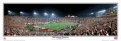Alabama Crimson Tide 2009 National Champions (1/08/10) Panoramic Photo