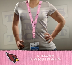 Arizona Cardinals NFL Lanyard Key Chain and Ticket Holder - Pink