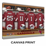 Arizona Cardinals Personalized Locker Room Print
