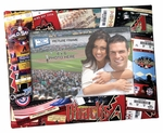 Arizona Diamondbacks Padded Front 4x6 Picture Frame - Ticket Collage Design