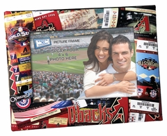 Arizona Diamondbacks 4x6 Picture Frame - Ticket Collage Design