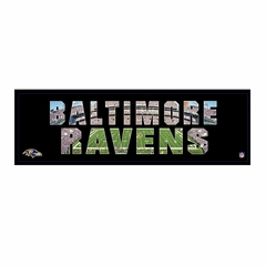 Artissimo Baltimore Ravens Team Pride 12X26 Canvas Art