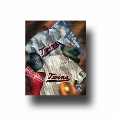 Artissimo Minnesota Twins Vintage Jersey Collage 8X10 Canvas