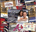Atlanta Braves 8 x 8 Scrapbook - Ticket & Photo Album