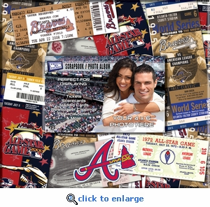 Atlanta Braves 8 x 8 Ticket & Photo Album Scrapbook