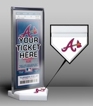 Atlanta Braves Home Plate Ticket Display Stand