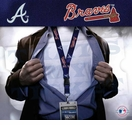 Atlanta Braves MLB Lanyard Key Chain and Ticket Holder - Navy