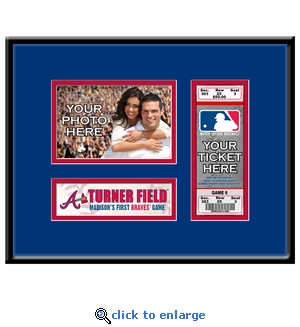 Atlanta Braves Personalized First Game Ticket Frame