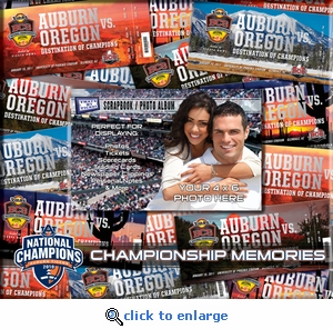 Auburn Tigers BCS Championship 8 x 8 Ticket & Photo Album Scrapbook