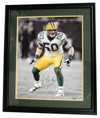 "Autographed Aj Hawk 16-By-20-Inch Framed Photo ""Osu"""