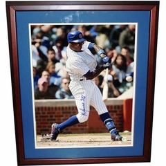 "Autographed Alfonso Soriano 16-By-20-Inch Framed Photo ""Cubs"" (MLB Authenticated)"