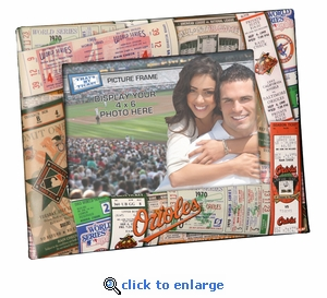 Baltimore Orioles 4x6 Picture Frame - Ticket Collage Design