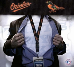Baltimore Orioles MLB Lanyard Key Chain and Ticket Holder - Black