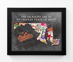 Baltimore Orioles Personalized State of Mind Framed Print - Maryland