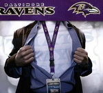 Baltimore Ravens NFL Lanyard Key Chain and Ticket Holder - Purple