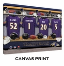 Baltimore Ravens Personalized Locker Room Print - 2013 Rosters Updated
