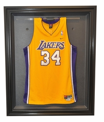 Basketball Removable Face Jersey Display Case, Black
