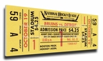 Bobby Orr First NHL Game Canvas Mega Ticket - Boston Bruins