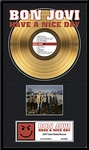 Bon Jovi - Have A Nice Day Framed Gold Record, LE 5,000