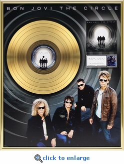 Bon Jovi - The Circle Framed Gold Record, LE 5,000