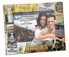 Boston Bruins 4x6 Picture Frame - Ticket Collage Design