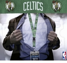 Boston Celtics NBA Lanyard Key Chain and Ticket Holder - Green