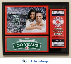 Boston Red Sox Fenway Park 100th Anniversary Ticket Plaque