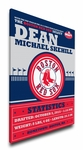 Boston Red Sox Personalized Canvas Birth Announcement - Baby Gift