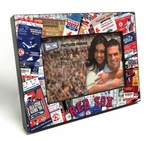 Boston Red Sox Ticket Collage Wooden 4x6 inch Picture Frame