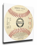 Brooklyn Dodgers 1939 Opening Day Canvas Mega Ticket - Ebbets Field