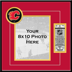 Calgary Flames 8x10 Photo and Ticket Frame
