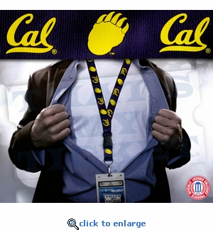 California Golden Bears NCAA Lanyard Key Chain and Ticket Holder - Navy