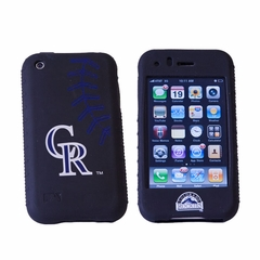 Cashmere Silicone Iphone Case - Colorado Rockies