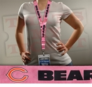 Chicago Bears NFL Lanyard Key Chain and Ticket Holder - Pink