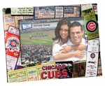 Chicago Cubs 4x6 Picture Frame - Ticket Collage Design