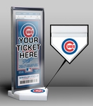 Chicago Cubs Home Plate Ticket Display Stand