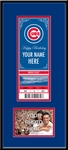 Chicago Cubs Special Occasion Announcement Mini-Mega Ticket Framed Print and 4x6 Photo