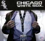 Chicago White Sox MLB Lanyard Key Chain and Ticket Holder - Black